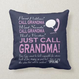Just Call Grandma! Cushion