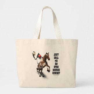 Just Call Me An Open Source Cowboy (Duke Java) Jumbo Tote Bag