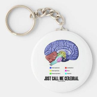 Just Call Me Cerebral Brain Anatomy Humor Key Chain