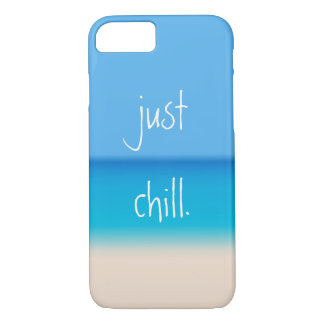 Just Chill Zen Abstract Tropical Beach Ombre iPhone 8/7 Case