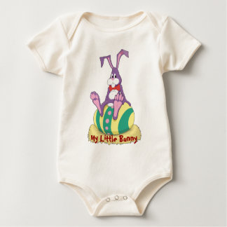 Just Chillin' Easter Bunny on decorated egg Rompers