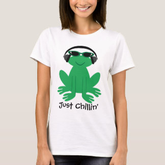 Just Chillin' Frog With Headphones & Shades T-Shirt