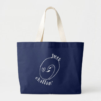 Just Chillin Jumbo Tote Bag