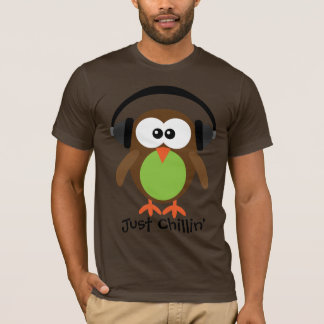 Just Chillin' Owl With Headphones T-Shirt