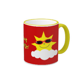 Just Chillin' Suns With Sunglasses Coffee Mugs