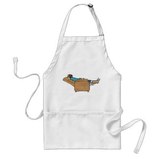 Just chilling book reading funny novelty art apron