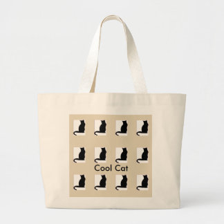 Just Cool Cute Jumbo Cat Graphic Tote
