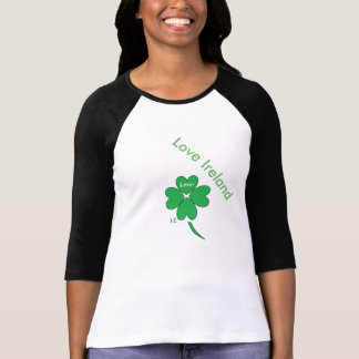 Just Cool Green Shamrock Black And White Top