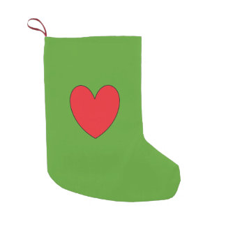 Just  Cool Red Heart  Festive Christmas Stocking