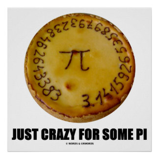 Just Crazy For Some Pi (Pi On A Pie) Poster