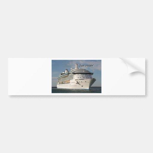 Just cruisin': cruise ship 3 bumper stickers