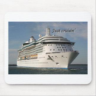Just cruisin': cruise ship 3 mouse pad