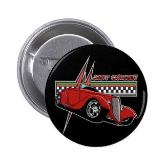 Just Cruisin Hot Rod 6 Cm Round Badge