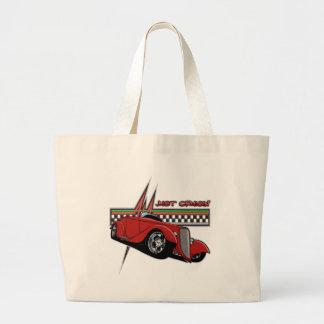 Just Cruisin Hot Rod Jumbo Tote Bag
