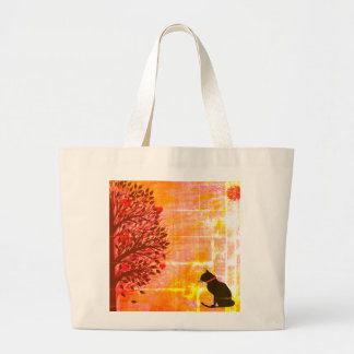Just Cute Jumbo Cat Graphic Tote