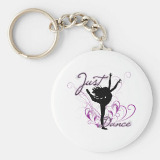 Just Dance Basic Round Button Key Ring