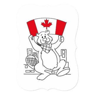 Just Dance Canada Day Party Invitation