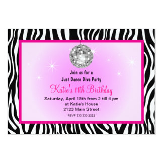 Just dance disco Diva party Card