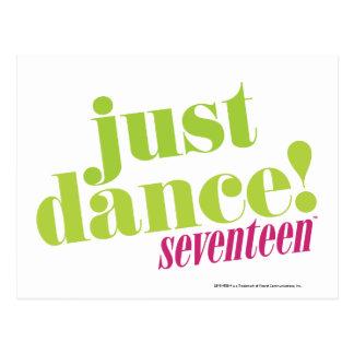 Just Dance - Green Postcard