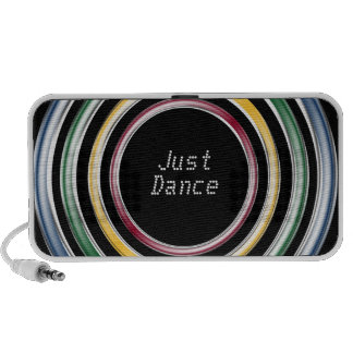 Just dance metallic color techno house music style travel speaker