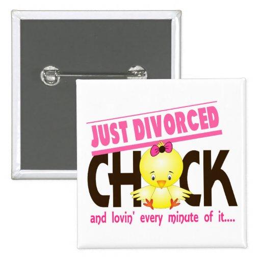 Just Divorced Chick Button