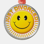 Just Divorced Smiley Silver-Colored Round Decoration
