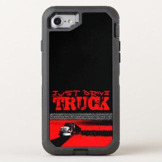 JUST DRIVE Truck: RED OtterBox Defender iPhone 8/7 Case