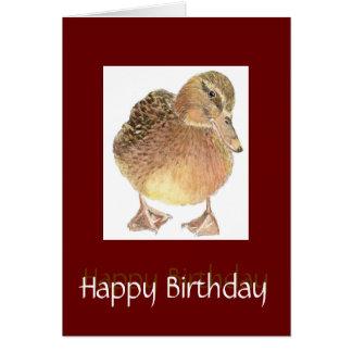 Just Ducky Fun Birthday Cute Bird Card