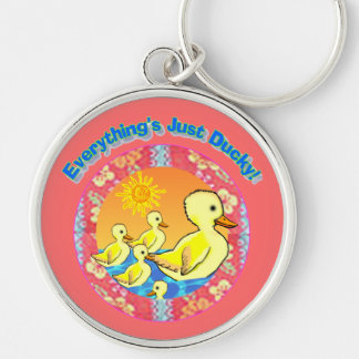 Just Ducky Large Premium Keychain
