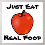 Just Eat Real Food Print