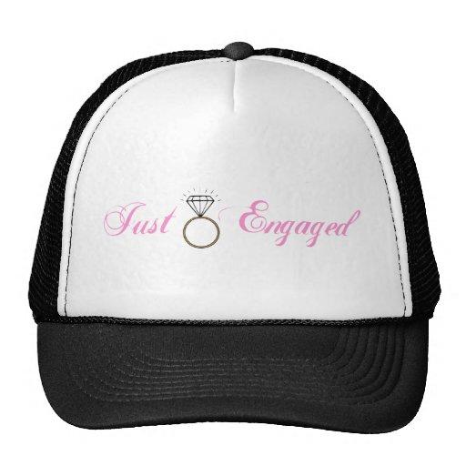 Just Engaged (Diamond Engagement Ring) Trucker Hats