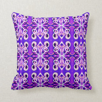 Just Feeling Purple Abstract Throw Pillow