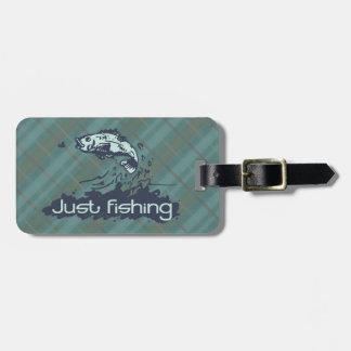 Just fishing tartan fish id luggage tag