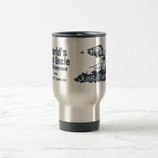 Just fishing world's best uncle fisherman travel mug