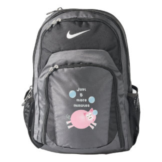 Just Five More Minutes Funny Cute Sleepy Pig Backpack