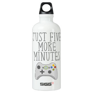JUST FIVE MORE MINUTES WATER BOTTLE