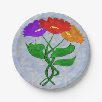 Just Flowers Paper Plate