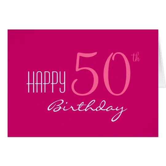 Just for Her 50th Birthday Card