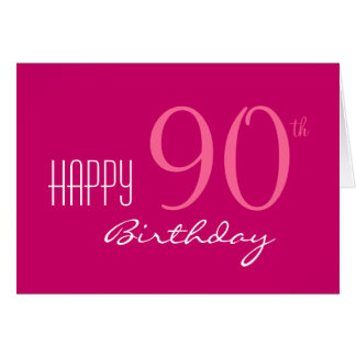 Just for Her 90th Birthday Card
