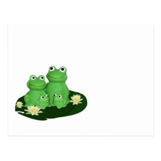 Just for Kids FROG FAMILY ... Postcard