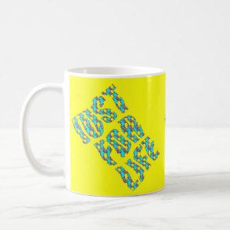 JUST FOR LIFE YELLOW BLUE TASSES ZZ COFFEE MUG