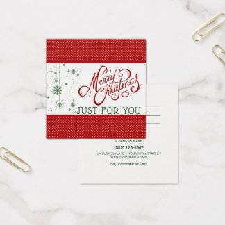 Just For You Merry Christmas Gift Card Certificate