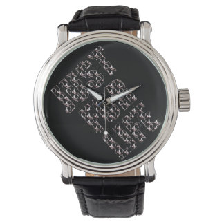 JUST FOR YOU NOIR Custom Black Vintage Leather Watch