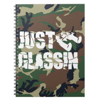 JUST GLASSIN NOTEBOOK