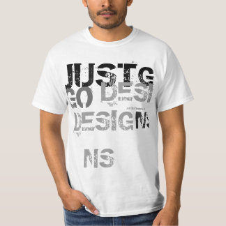 just go collection t shirt (words)