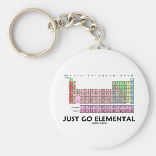 Just Go Elemental (Periodic Table Of Elements) Keychains