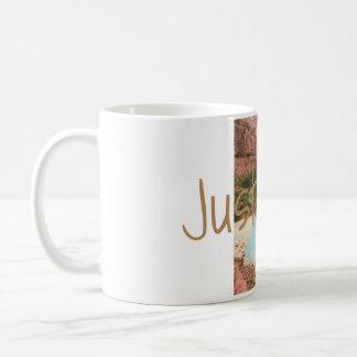 Just Go waterfall mug