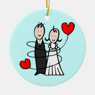 Just Got Married Christmas Ornament
