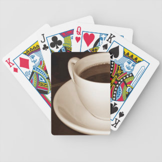 Just Half a Cup coffee playing cards Bicycle poker