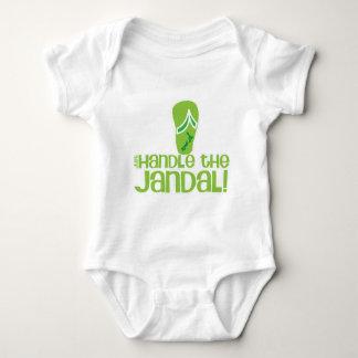 just handle the jandal! KIWI New Zealand funny say Baby Bodysuit